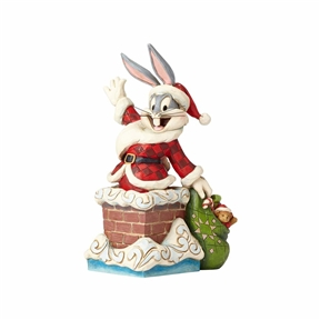 Looney Tunes Bugs Bunny Santa Figurine by Jim Shore, 4052808