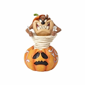 Looney Tunes Halloween Taz in Pumpkin Figurine