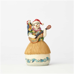 Margaritaville Series Snowman with Guitar & Parrot Figurine by Jim Shore 4059122