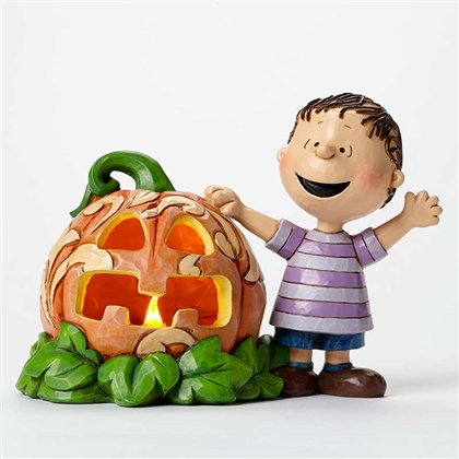 Linus and the Great Pumpkin Peanuts Light-up Figurine by Jim Shore, 4045887