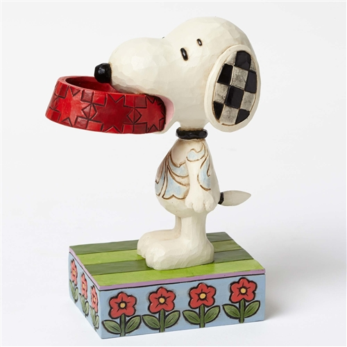 Snoopy with Dog Dish Figurine By Jim Shore 4049411