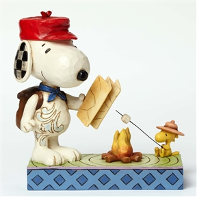 Snoopy and Woodstock by Campfire Figurine By Jim Shore
