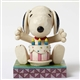 Snoopy with Birthday Cake Peanuts by Jim Shore Figurine