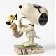 Snoopy with Joe Cool Saxophone Peanuts by Jim Shore Figurine
