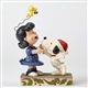 Peanuts Snoopy Kissing Lucy Mistletoe Figurine by Jim Shore