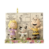 Peanuts Comic Book with Charley Brown and Friends Figurine by Jim Shore