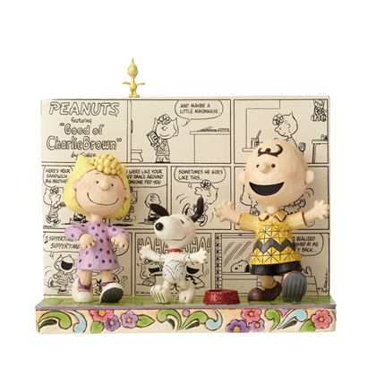 Peanuts Comic Book with Charley Brown and Friends Figurine by Jim Shore 4054078