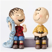 Peanuts Charlie Brown with Linus on Sidewalk Figurine by Jim Shore