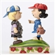 Peanuts Baseball Schroeder and Lucy Figurine by Jim Shore