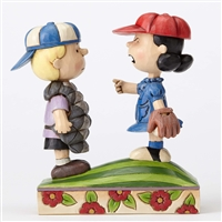 Peanuts Baseball Schroeder and Lucy Figurine by Jim Shore 4054082