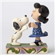 Peanuts Snoopy Kissing Lucy Figurine by Jim Shore