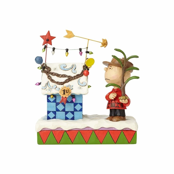 Snoopy Christmas Tree Topper: Charlie Brown And Christmas Decorated Snoopy Doghouse