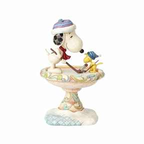 Snoopy and Woodstock Playing Hockey Peanuts Figurine by Jim Shore