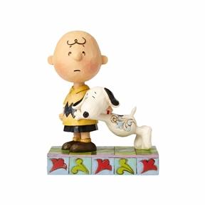 Snoopy with Charlie Brown Peanuts Figurine by Jim Shore