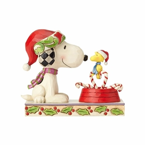 Snoopy and Woodstock Christmas Peanuts Figurine by Jim Shore