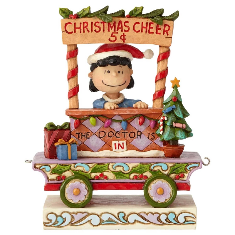 Christmas Train.Peanuts Lucy Christmas Train By Jim Shore