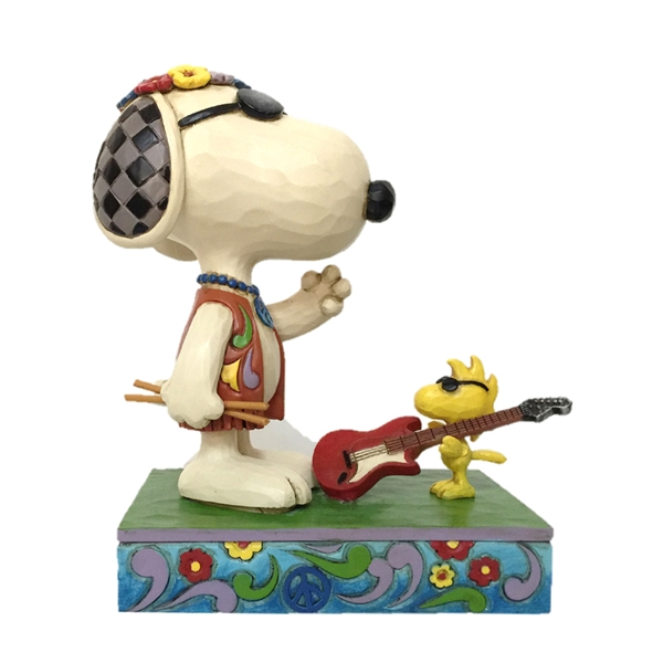 Peanuts Snoopy and Woodstock Concert Goers Figurine by Jim Shore | 6005943