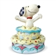Snoopy Jumping out of Birthday Cake - Peanuts by Jim Shore Figurine, 6005944