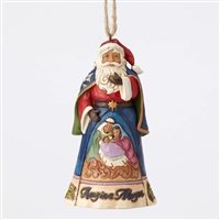 Heartwood Creek Santa Holy Family Scene Hanging Ornament by Jim Shore