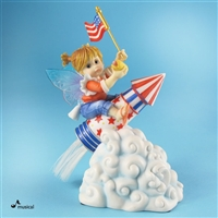 Patriotic Rocket - My Little Kitchen Fairies Musical Figurine, 4021005