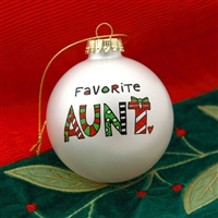'Favorite Aunt' Christmas Ball Ornament, 4028065