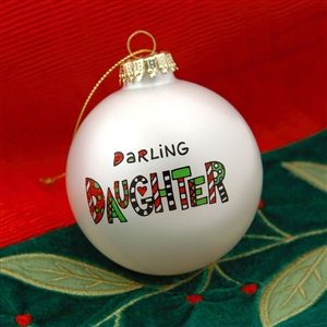'Darling Daughter' Christmas Ball Ornament, 4028070