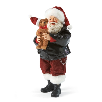 Biker Santa With Teddy Bear Possible Dreams Figurine