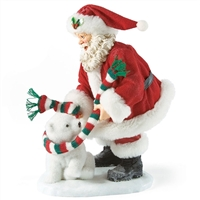 Santa with Young Polar Bear, Possible Dreams Figurine, 4027041