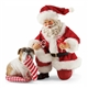 Possible Dreams Santa Claus with Bulldog Figurine Set