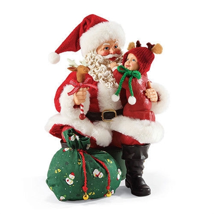 Possible Dreams Santa Holding Child Figurine, 4044436 | Flossie's Gifts and Collectibles