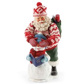 Possible Dreams Santa Surprising Snowman Figurine
