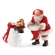 Possible Dreams Santa 2 pc. set Santa and Snowman Figurine 4052464