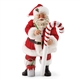 Possible Dreams Candy Cane Striper Santa Figurine 4056209