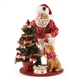 Possible Dreams Santa Decorating Dog's Tree Figurine, 4056215