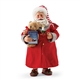 Possible Dreams Santa in Bed Robe with Candle and Teddy Bear 4056715