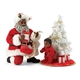 Possible Dreams African American Santa with Baby's First Tree Figurine Set