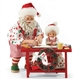Possible Dreams Santa Making Cookies Figurine Set