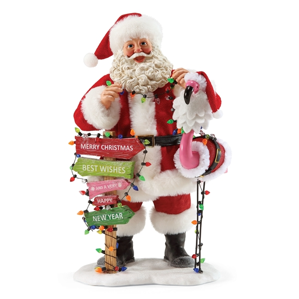 Possible Dreams Santa Decorating Front Lawn Figurine, 4057017
