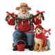 Possible Dreams Santa Gone Fishing with Dog Figurine - 4057108