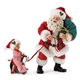 Possible Dreams Santa Pulling Boy on Toy Horse Figure Set 4057116