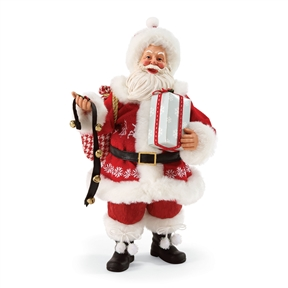 Possible Dreams Santa with Bells and Gifts Figure