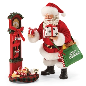 Possible Dreams Santa Leaving Presents for Pets Figure Set