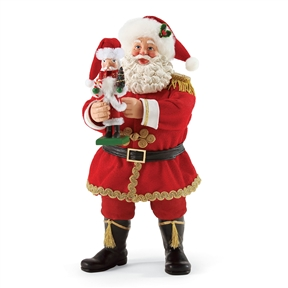 Possible Dreams Santa Holding Nutcracker