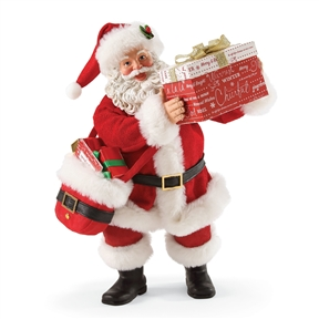 Possible Dreams Santa Holding Gift Box That Opens