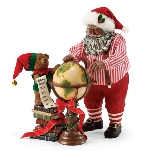 Possible Dreams African American Santa 'Across the Globe' Figurine Set