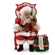 Possible Dreams Santa Figurine Enjoying a Little Time with Pets 6000734