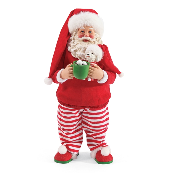 Possible Dreams Santa in PJ's Figurine by Department 56, 6003433
