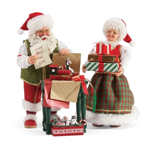Possible Dreams Mr. and Mrs. Santa Figurine from Department 56, 6003442