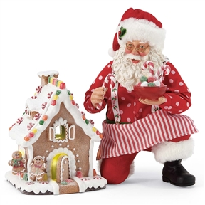 Possible Dreams Santa with Lighted Gingerbread House, 6005262