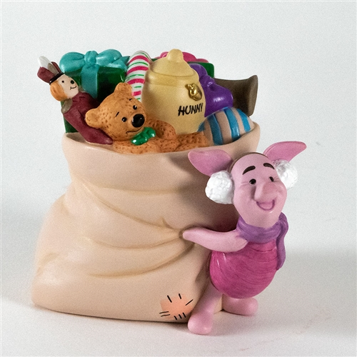 Piglet with Santa's Sack of Presents - Pooh & Friends Figurine, 29009